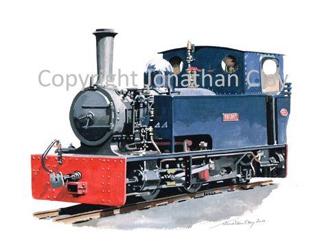 345 Welsh Highland Heritage Railway Bagnall 0-4-2T 'Gelert'