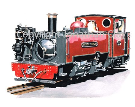 349 Vale of Rheidol Rly No.9 Prince of Wales (Red Livery)