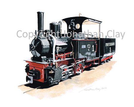 354 Statfold Barn Railway  0-4-0T+T Pakis Baru No.1
