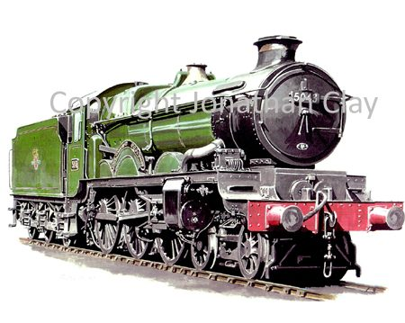 502A GWR Castle 4-6-0 No. 5043 Earl of Mount Edgcumbe (BR Green)