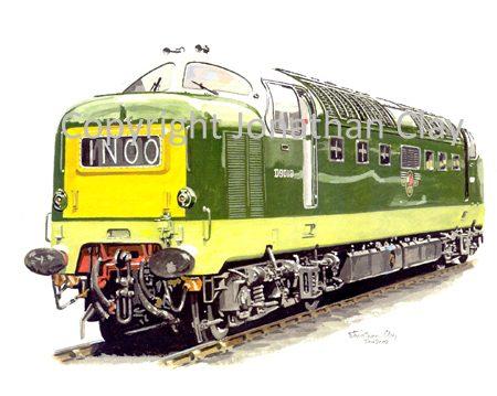 531 Class 55  Diesel Deltic No. D9019