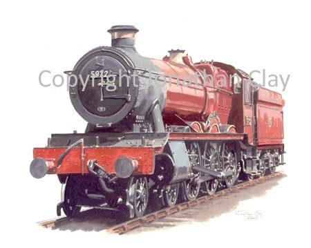554 GWR Hall 4-6-0 No.5972 Olton Hall (Harry Potter livery)