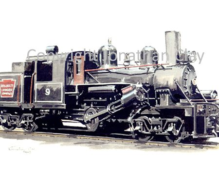 561 Climax Logging Locomotive No.9