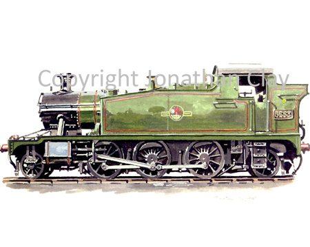 563 GWR Small Prairie No.5553