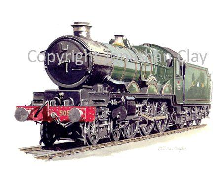 566 GWR Castle 4-6-0 No.5051 Earl Bathurst (GWR livery)