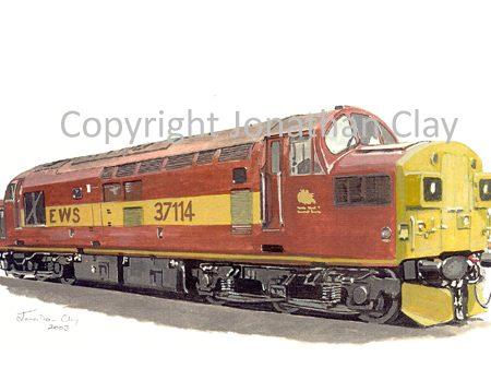 585 Class 37 Diesel No. 37114 (EWS)