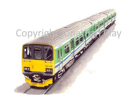 614 Midland Trains 3 car Class 150
