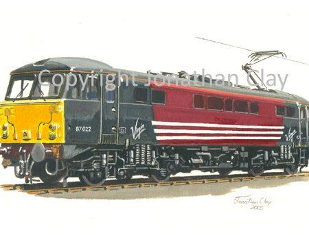 636 Class 87 Electric No.  87 022 (Virgin)