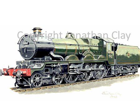 647 GWR Castle 4-6-0 No.5054 Earl of Ducie (BR Green)