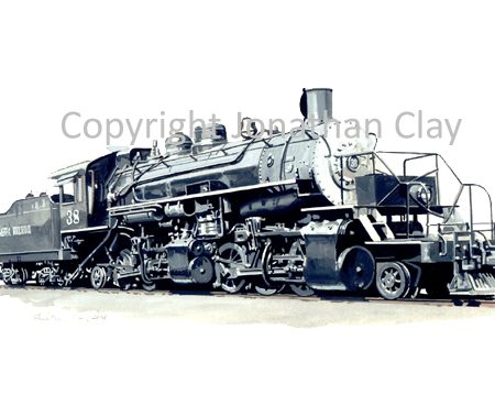 736 Sierra Railroad Mallet 2-6-6-2 No.38