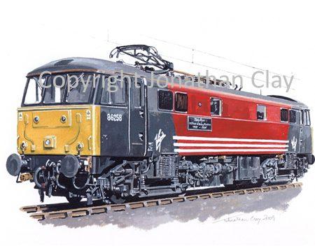 791 Class 86 Electric No. 86258 'Talyllyn' (50 years)