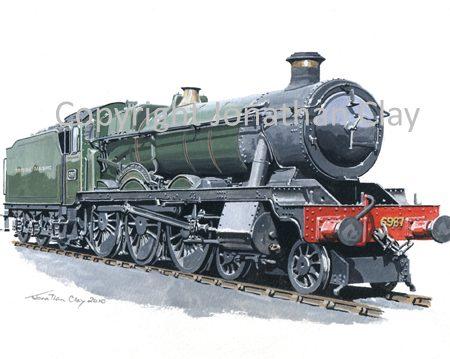 799 GWR Hall 4-6-0 No.6987 Shervington Hall (GWR livery)