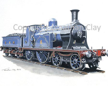 817 Caledonian Railway Single 4-2-2 No.123