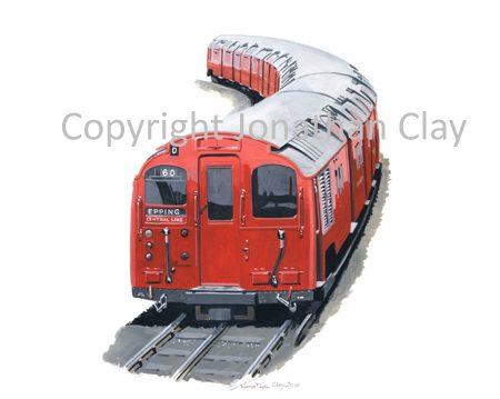 822 Central Line Standard Stock Tube Train