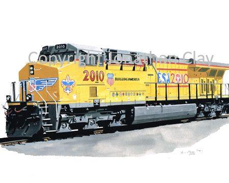 856 Union Pacific ES44AC diesel Locomotive No.2010