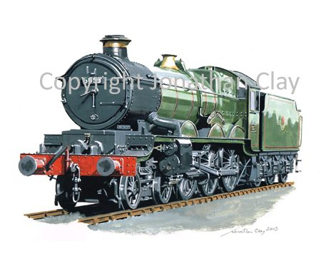 885 GWR Castle 4-6-0 No.5053 Earl Cairns (BR Green)