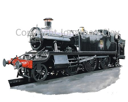 890 GWR Large Prairie 2-6-2T No. 5199 (BR Black)