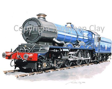 894 GWR King 4-6-0 No.6023 King Edward II (BR Blue)