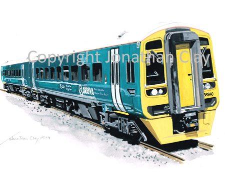 907 Arriva Trains Wales Class 158 DMU