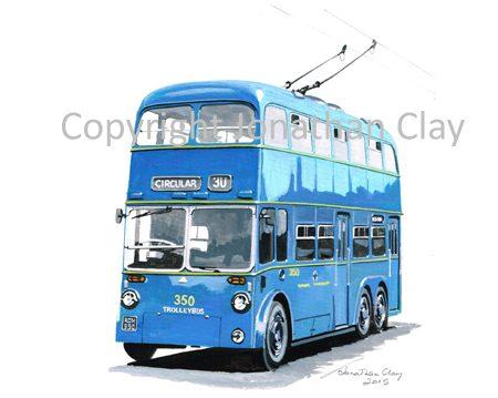 1885 Walsall Corporation Sunbeam Trolleybus 350