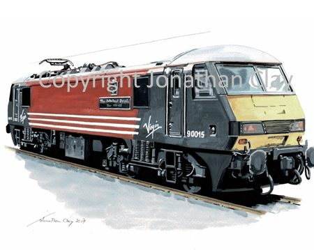 950 Class 90 Electric Locomotive Virgin No. 90 016 'The International Brigade)