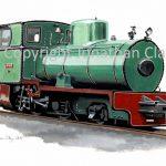 434 Sittngbourne and Kemsley Railway Bagnall 2-4-0 fireless loco 'Unique'