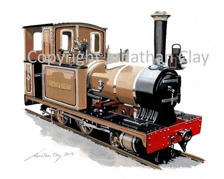 438 Groudle Glen Railway Bagnall 2-4-0T 'Brown Bear'