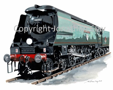 969 Bulleid WC Class 4-6-2 No. 34092 'City of Wells'